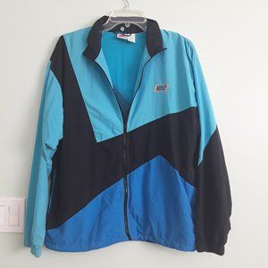 VINTAGE NIKE lightweight zippered jacket MEDUIM